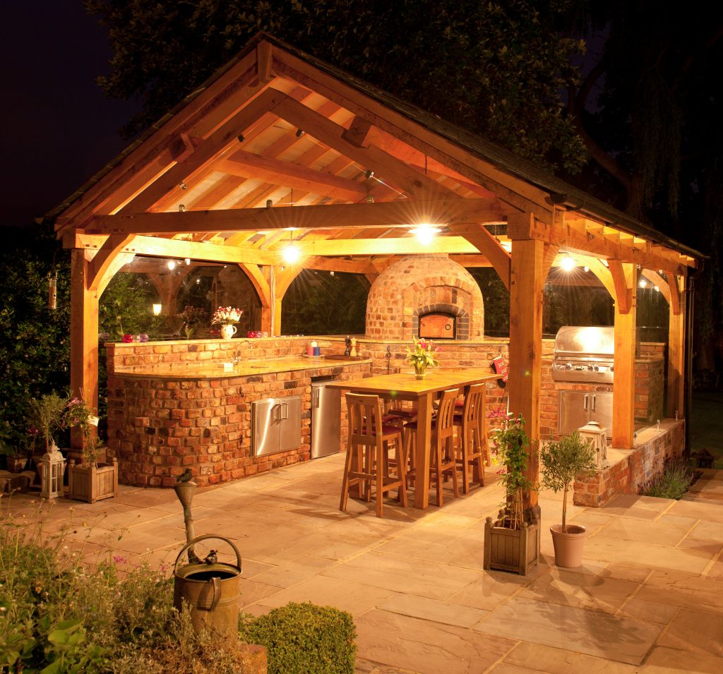 callaway construction and landscape outdoor kitchen patio ...