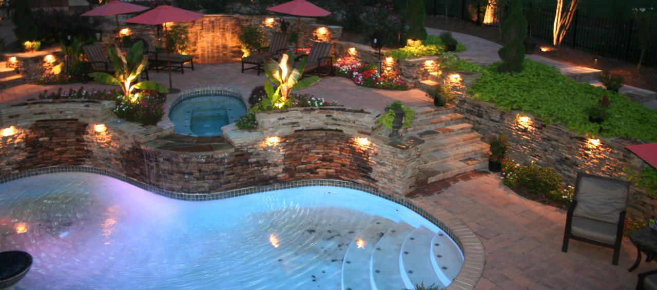 outdoor lighting patio pool north georgia dalton chatsworth