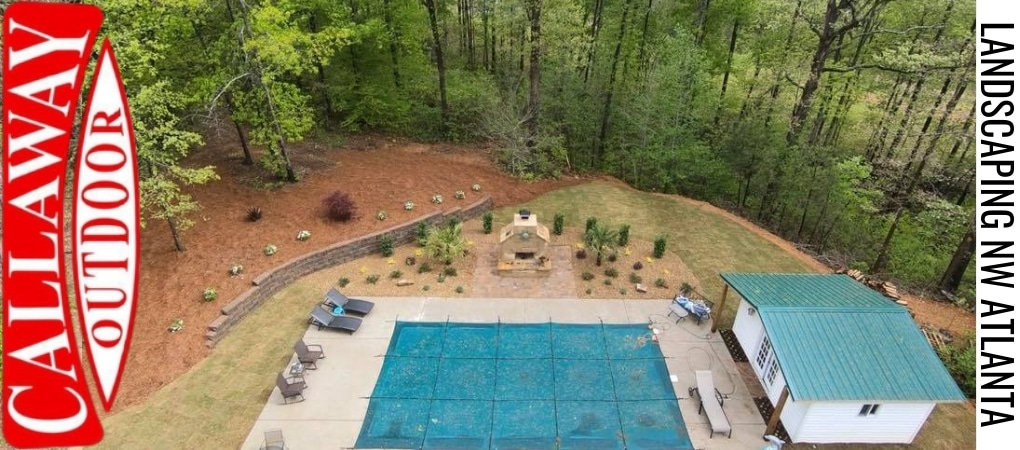 After Atlanta Backyard Landscape Installation