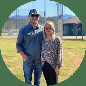 Drew Callaway and his wife in Blue Ridge, GA.