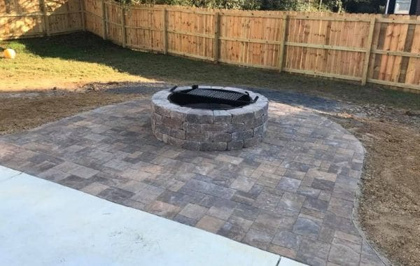 Fire Pit Installed by Callaway Outdoor
