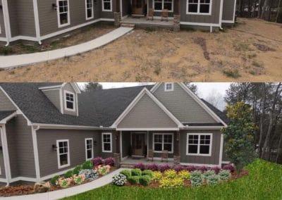 Front Side Angle of Landscape Design Mockup