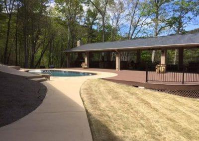 Landscape Additions Surrounding Pool