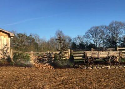 New Landscape Around Barn