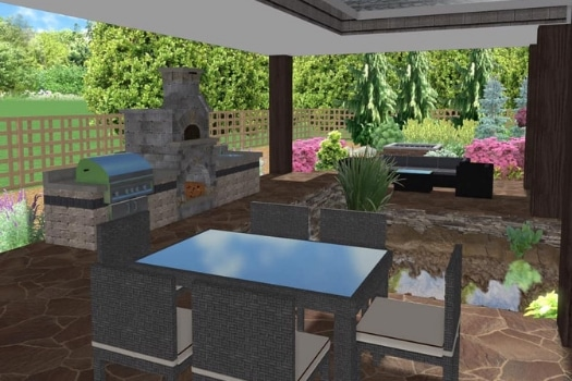 Outdoor Kitchen Computer Generated Design