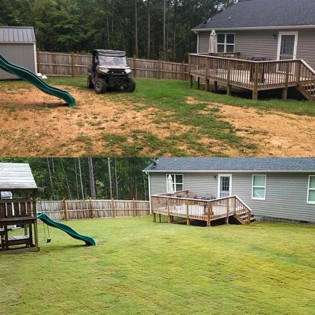 Sod Installation Before and After