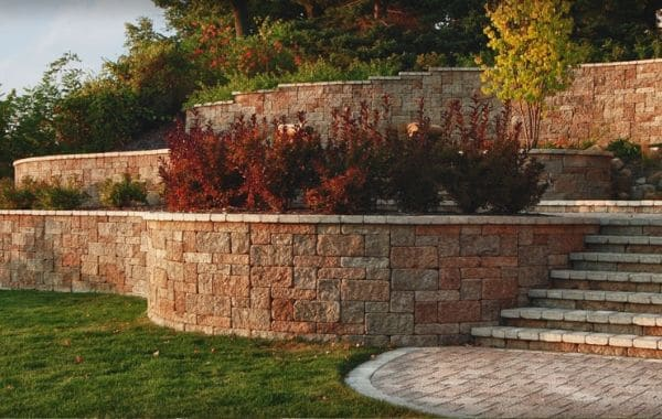 Tiered Retaining Walls With Plantings